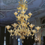 gold murano glass chandelier