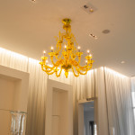 yellow murano glass chandelier