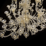 murano glass chandelier lights on