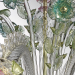 decorated murano glass chandelier