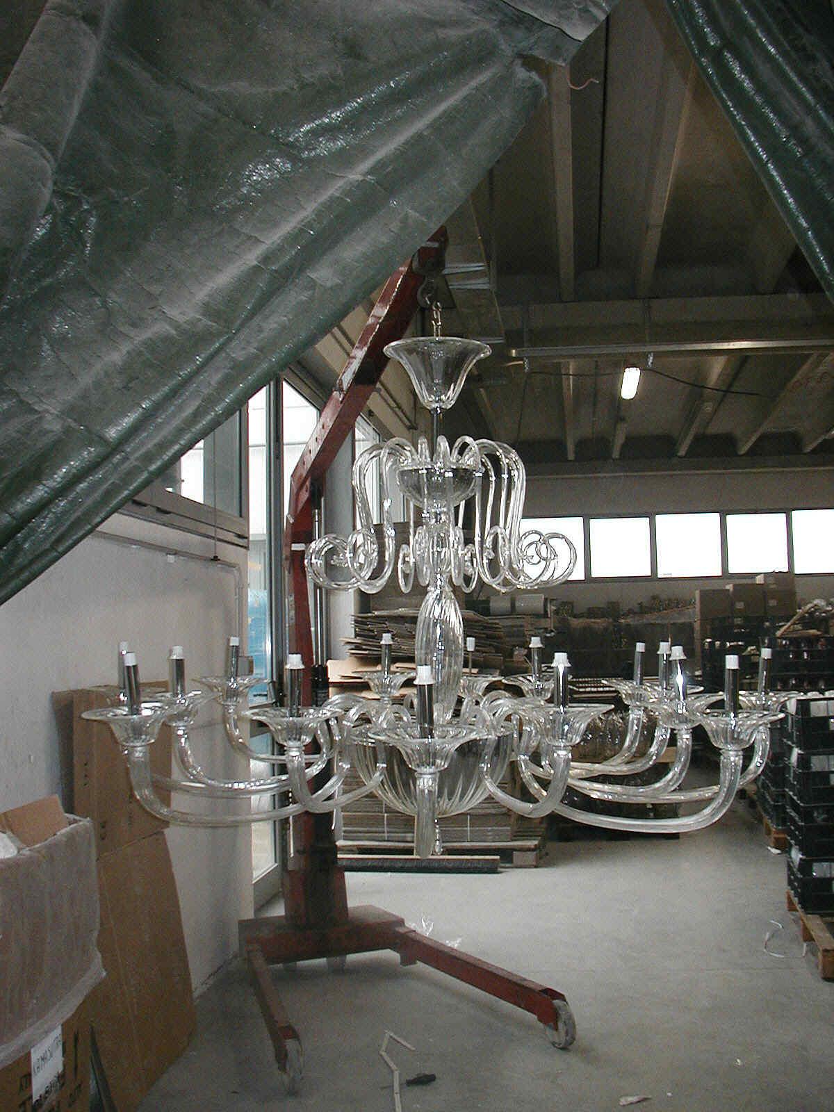 ... con il vetro di murano soffiato a mano lampadari fatti a mano in vetro