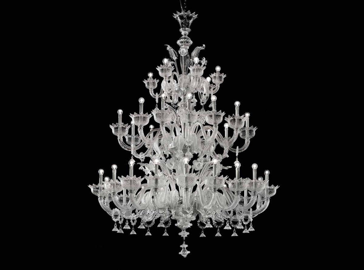 Custom lighting: Murano glass chandelier