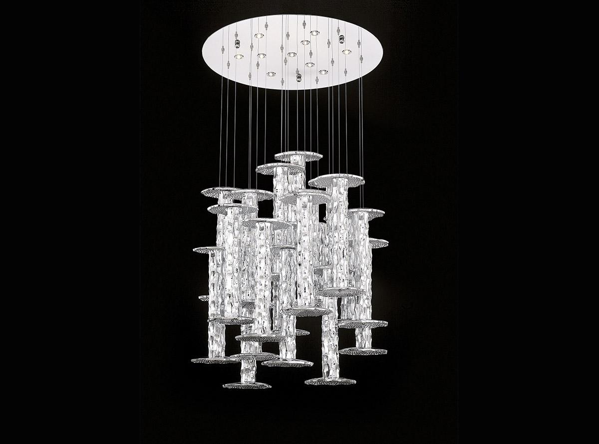 C-3700_urchin_bambu_Italian art glass chandeliers