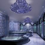 Light sculptures: Murano glass lamp Naga
