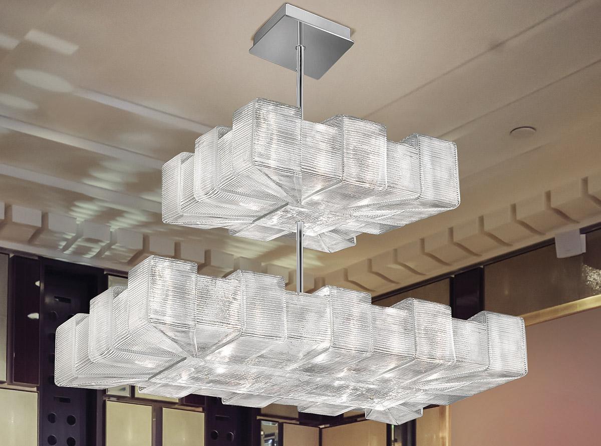 Italian glass chandelier-1335-S