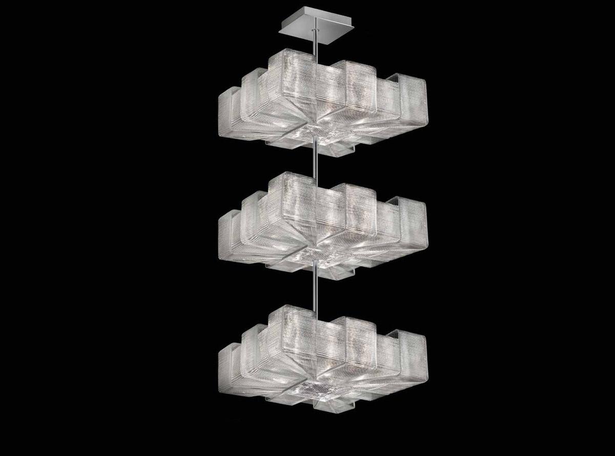 Italian glass chandelier-C-1305