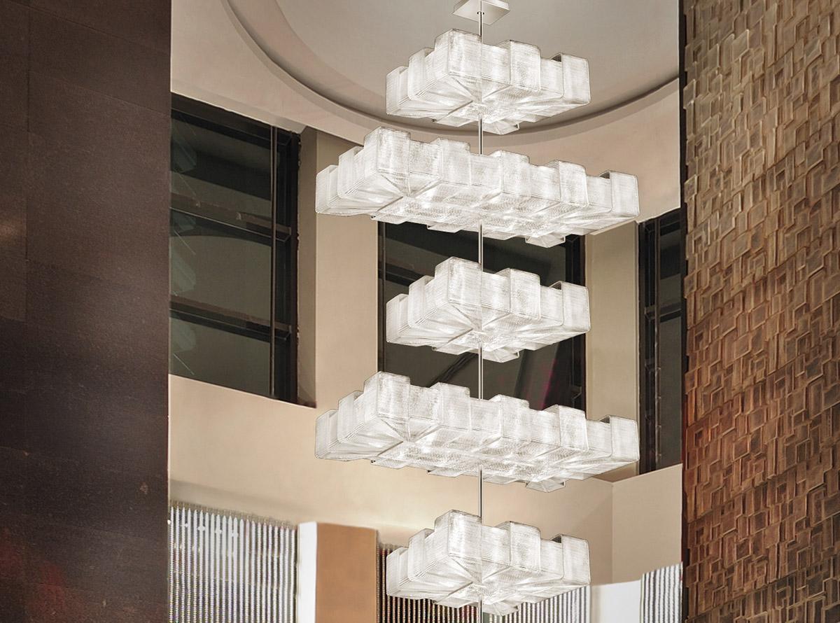 Italian glass chandelier-C-1335