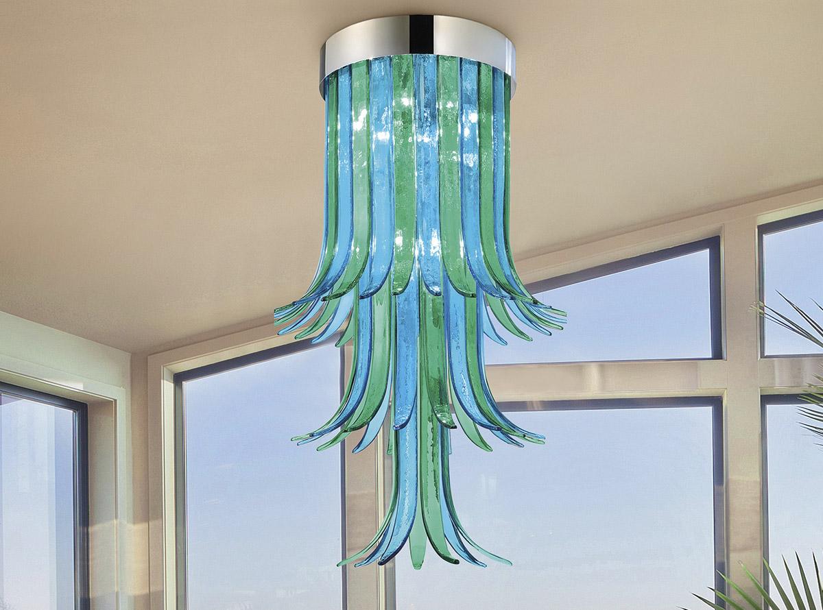 Venetian glass chandelier-sciabole2_1810p