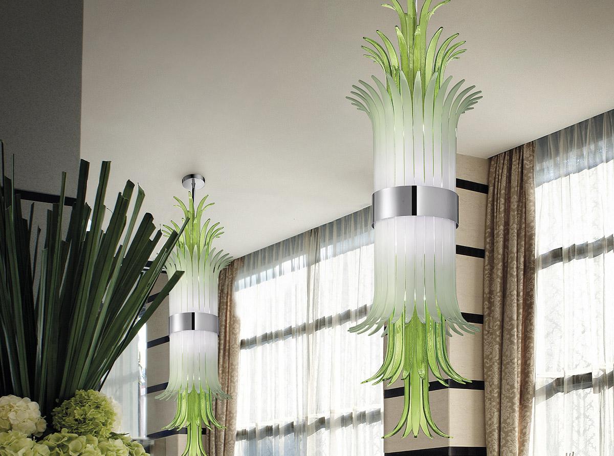 Venetian glass chandelier-sciabole2_1820