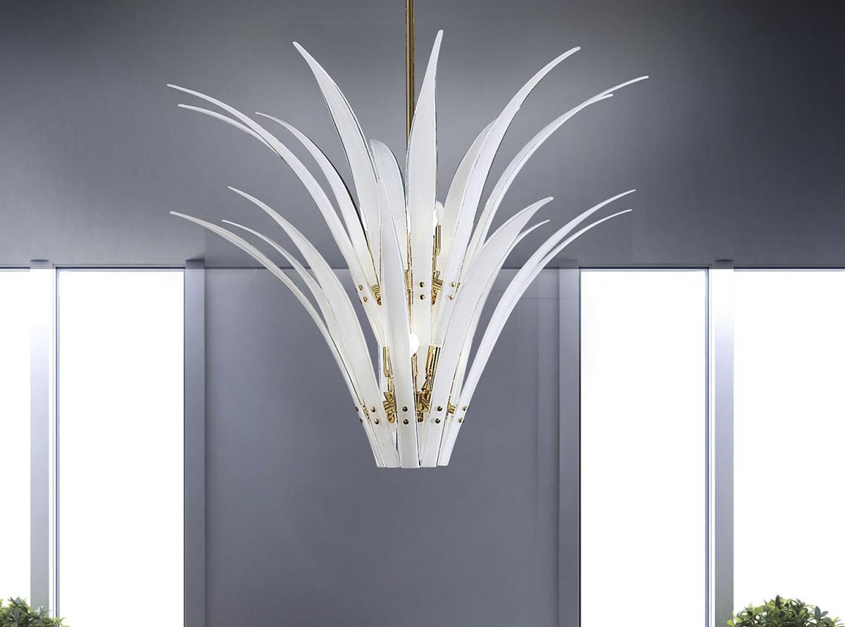 Venetian glass chandelier-sciabole2_C-12604