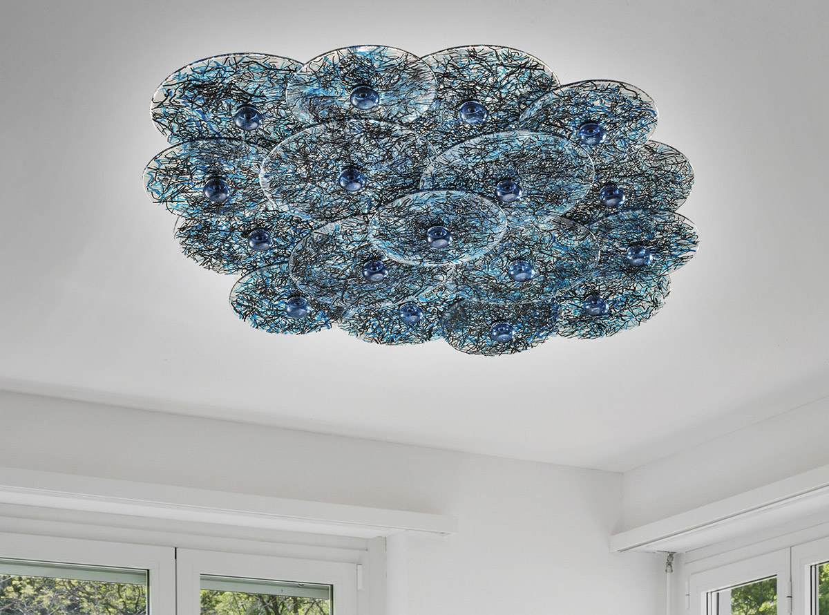 Collection habitat creative round handmade glass chandeliers art 36002 mozeypictures Gallery