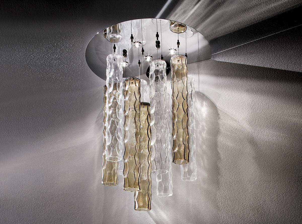 3700-AG-18+19-bambu_Italian art glass chandeliers
