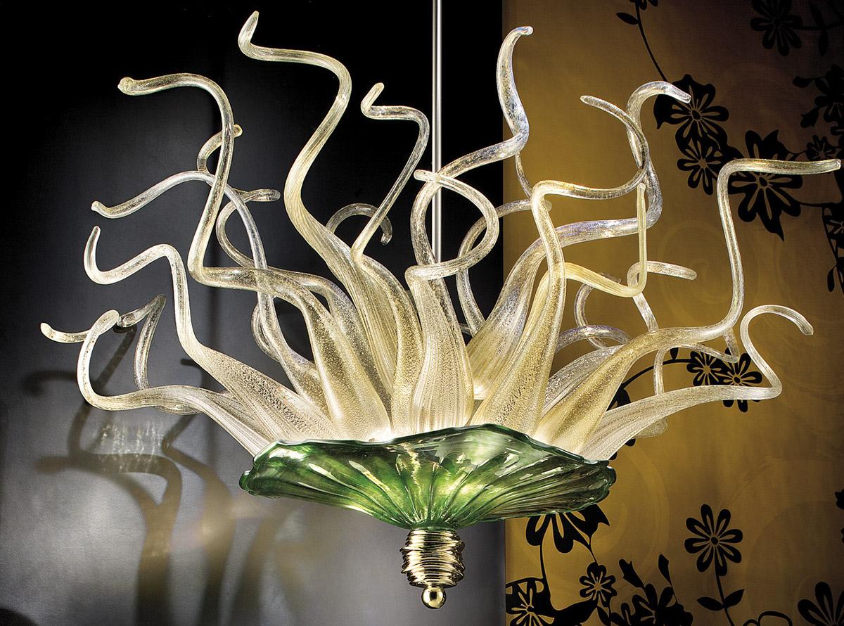 Hand-Blown-Glass-Chandelier-E.H.F.7-CO-P1+P2-GREEN-ghirigori