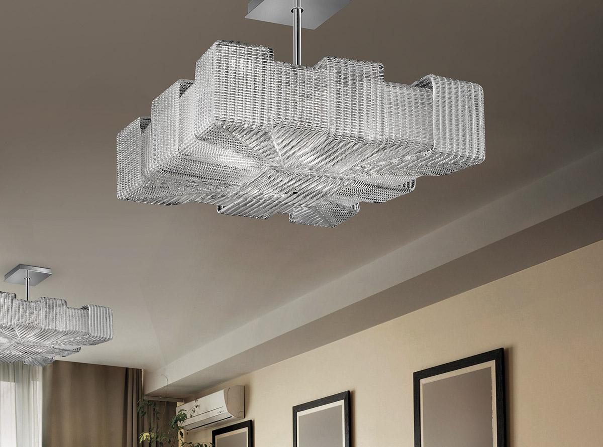 Italian glass chandelier-1305-S-pattern-O