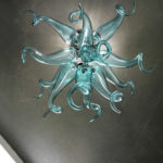Blown glass chandelier lighting - Ghirigori