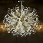 Custom blown glass light sculptures C-E.H.F.31 - Ghirigori