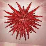 Custom blown glass light sculptures C-T.N.T.7 - Ghirigori