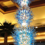 Custom hand blown glass chandelier - C-E.H.F.23