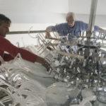 Custom hand blown glass chandelier - Ghirigori