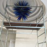 Hand blown glass light fixture ghirigori