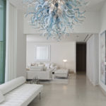 Custom blown glass chandeliers - C-E.H.F.5-6 - Ghirigori