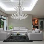 Fresco Venetian glass chandelier interior design