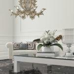Fresco Venetian glass chandelier