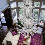 Fresco custom: lampadario in vetro veneziano