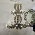 Fresco handmade Murano glass chandelier