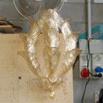 Lampada da muro in vetro di Murano della collezione Fresco: le fasi della creazione