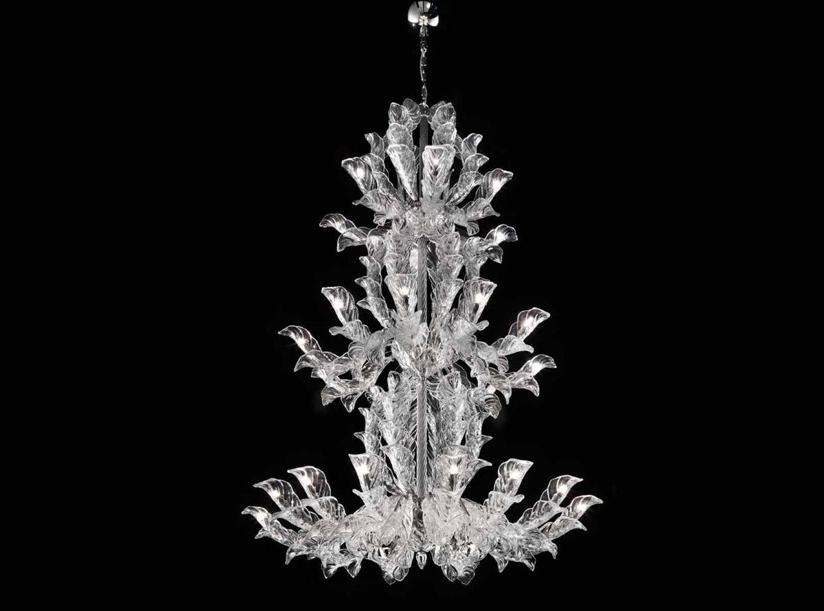 """Il lampadario in vetro veneziano  si rinnova: collezione """"Fresco"""""""