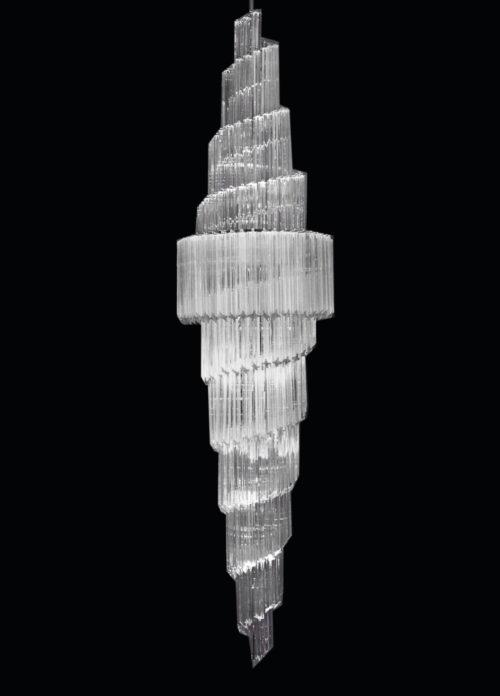 Illuminazione in vetro di Murano dalle geometrie perfette