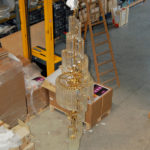 Murano glass chandelier Ambient