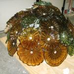 Blown glass light sculptures