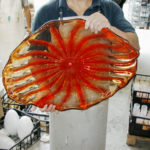 Murano glass light sculptures