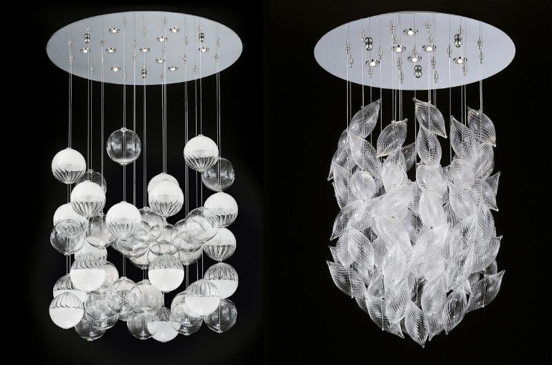 Sculture di luce – disegnare la luce con il vetro di Murano soffiato a mano