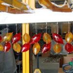 Murano glass: blown glass chandelier
