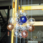 Blown glass light sculptures