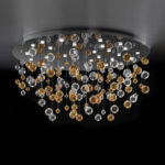 Custom made blown glass chandelier