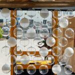 Hand blown glass light fixtures