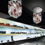 Murano glass chandelier - chicchi