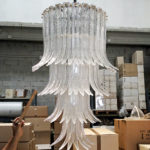 Murano italian glass: the art glass chandelier