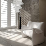 Murano italian glass - Modern Luxury Loft Interior with white chair