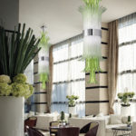 Luxury interior design in Murano italian glass