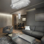 Sculture di luce: luxury living room interior