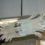 Sculture di vetro nei lampadari in vetro di Murano