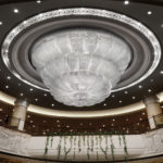 Overlap: crystal chandelier